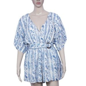 New Free People Printed Romper Oversized Dress S